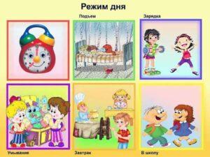Примерный режим дня для детей 7-11 лет (Approximate mode of the day for children 7-11 years old)