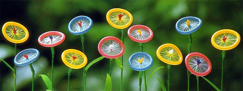 Презервативы цветочки - картинка (Condoms flowers - picture)