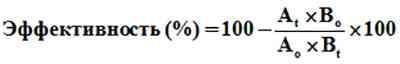 Паразитологическая эффективность обработки - формула рассчета